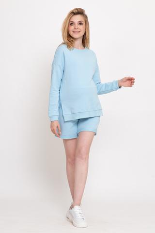 Спортивный костюм для беременных и кормящих 12535 голубой