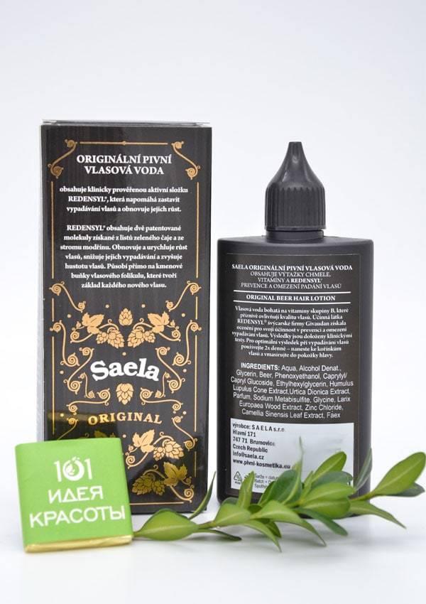 Saela Пивной лосьон для профилактики и уменьшения выпадения волос с витаминами группы В, 100мл