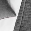 Комплект штор и покрывало Кенна темно-серый