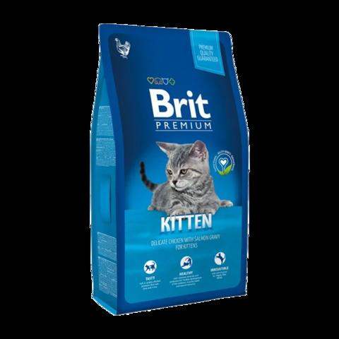 Brit Premium Kitten Сухой корм для котят с курицей в лососевом соусе