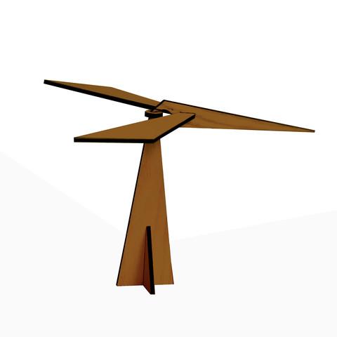 медитативный тренажер Феникс баланса темный. Балансирующая птица балансир