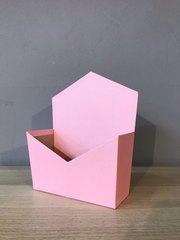 Конверт трапеция, Розовый, 19,5 х 23 х 8 см, 1 шт.