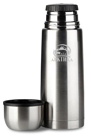 Термос Арктика (0,75 литра) с узким горлом современный, стальной