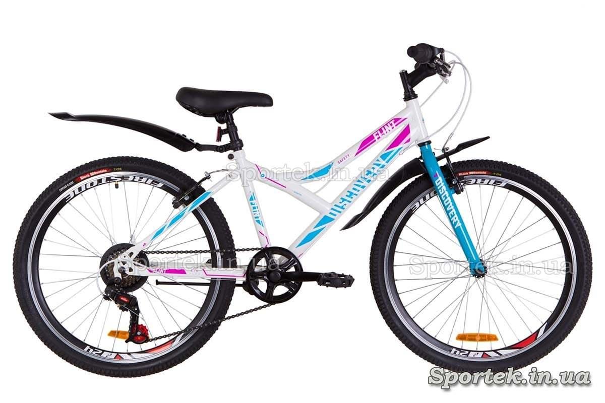 Підлітковий велосипед Discovery Flint - біло-блакитний з рожевим