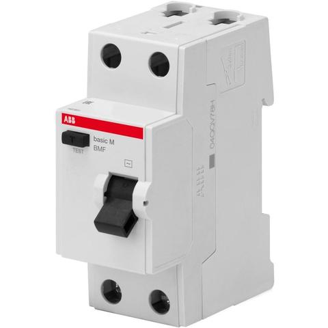 Дифф. выключатель тока УЗО 2-полюсный 25 А, тип AC (перемен.), 4,5 кА BMF41225. ABB. 2CSF602041R1250