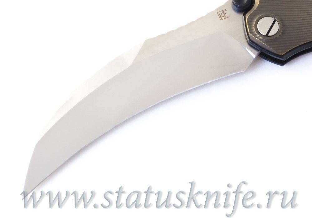 Нож Krokar Ti (Алексей Коныгин, титан, цирконий, M390) - фотография