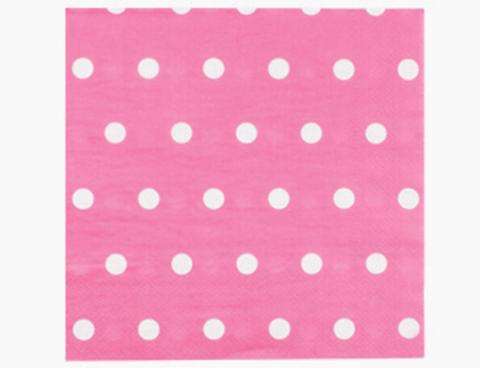 1502-3930 Салфетка Горошек ярко-розовая 33см 12штG