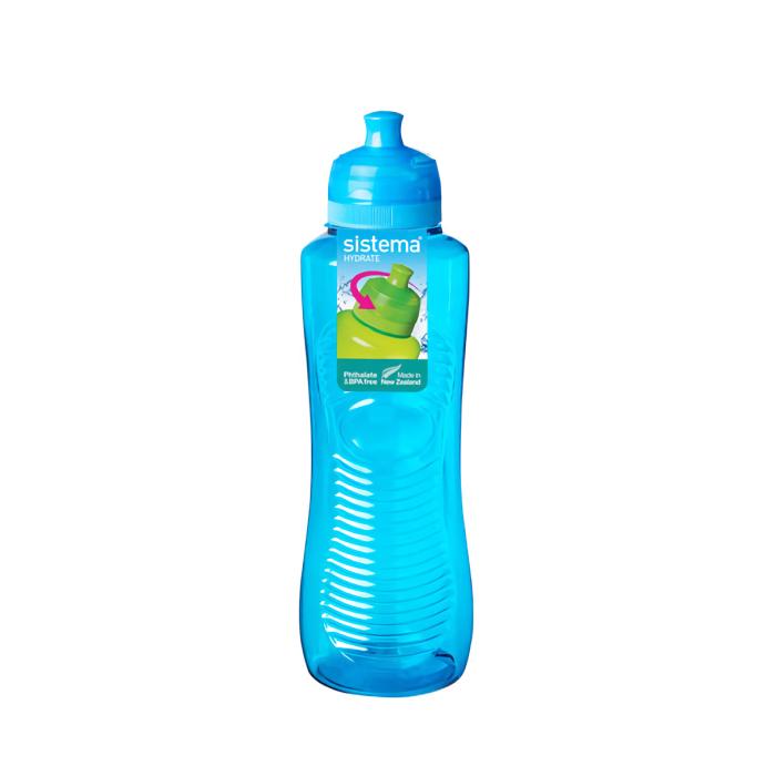"""Бутылка для воды Sistema """"Hydrate"""" 800  мл, цвет Голубой"""