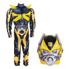 Трансформер Бамблби Делюкс. Карнавальный костюм для мальчика с мускулами и маской
