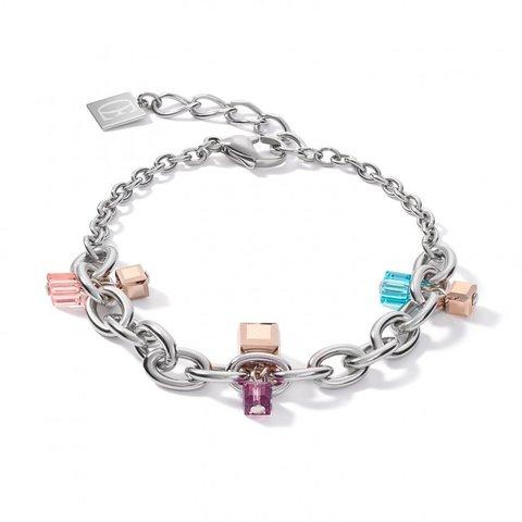 Браслет Multicolor 5063/30-1578 цвет розовый, голубой, серебряный