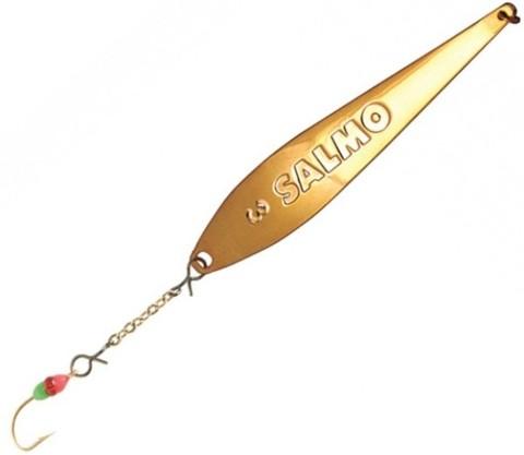 Блесна Lucky John MODEL S-3-Z с цепочкой и тройником, 6,5г, цвет G, 82761-G