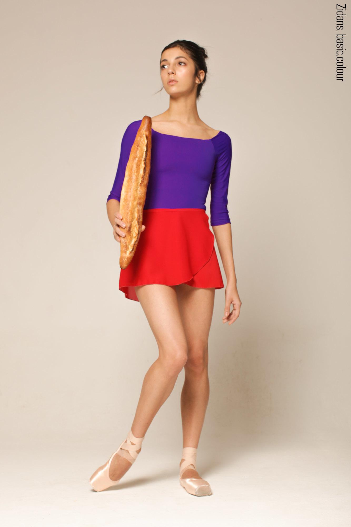 Wrap chiffon skirt 4 lengths | scarlet