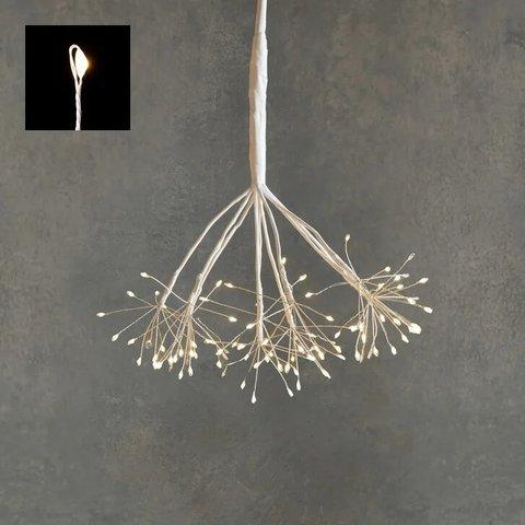 Подвесной одуванчик с лампами белого света, для наружного и внутреннего использования
