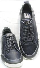 Мужские кеды кроссовки весна осень мужские Luciano Bellini C6401 TK Blue.