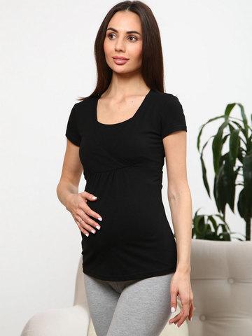 Мамаландия. Футболка для беременных и кормящих на запах, черный