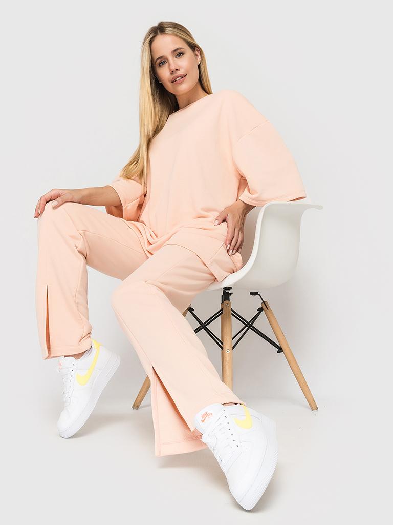 Костюм (брюки и футболка) пудровый YOS