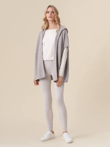 Женский жилет светло-серого цвета из 100% кашемира - фото 5
