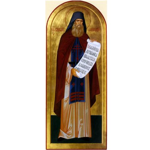 Икона святой Силуан Афонский на дереве на левкасе мастерская Иконный Дом