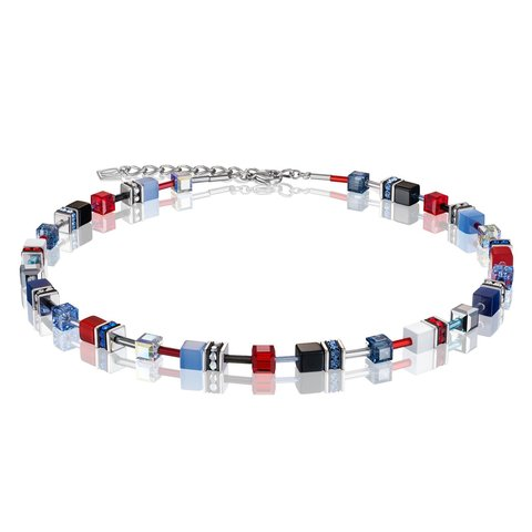 Колье Blue-Red 2838/10-0703 цвет синий, красный