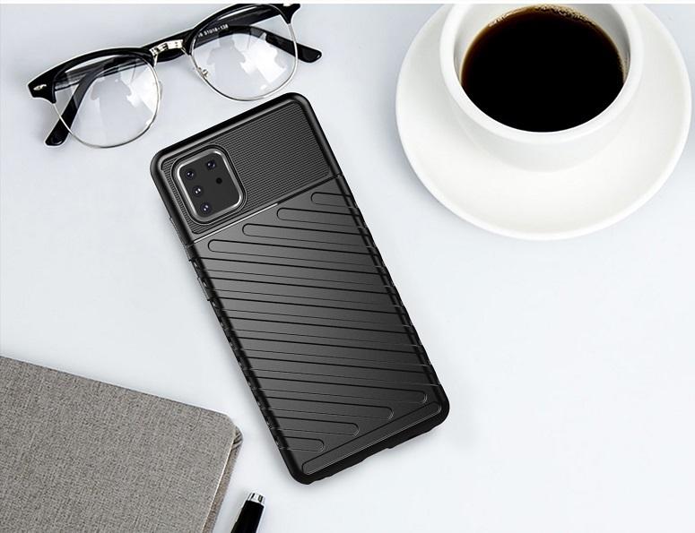 Черный противоударный чехол на Samsung Galaxy Note 10 Lite, серия Onyx от Caseport