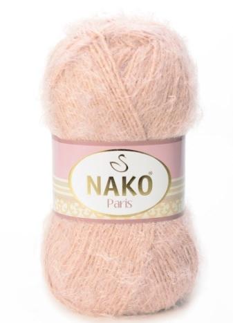 Пряжа Nako Paris 10390 желтая пудра