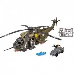 Chap Mei Игровой набор: Большой вертолет, с фигурками и джипом (звук, свет)(540059)