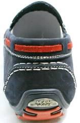Мужские летние туфли мокасины из кожи Faber 142213-7 Navy Blue.