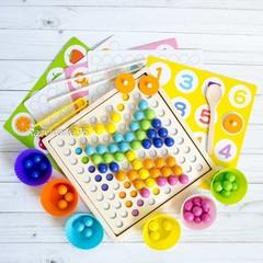 Мозаика с шариками и пинцетом 3-в-1