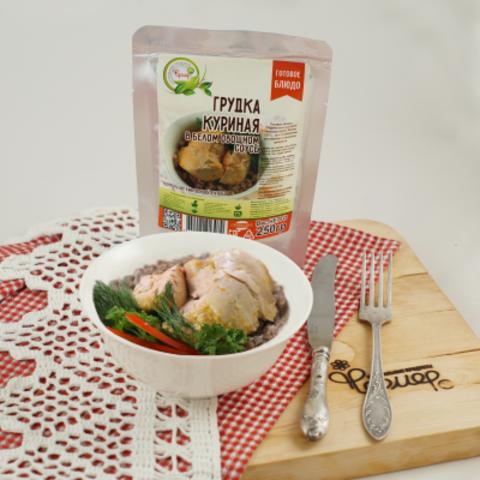 Куриная грудка в белом овощном соусе 'Фермер', 250г