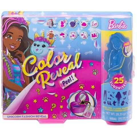 Барби Color Reveal Peel Фантазия-Преобразование на тему Единорога