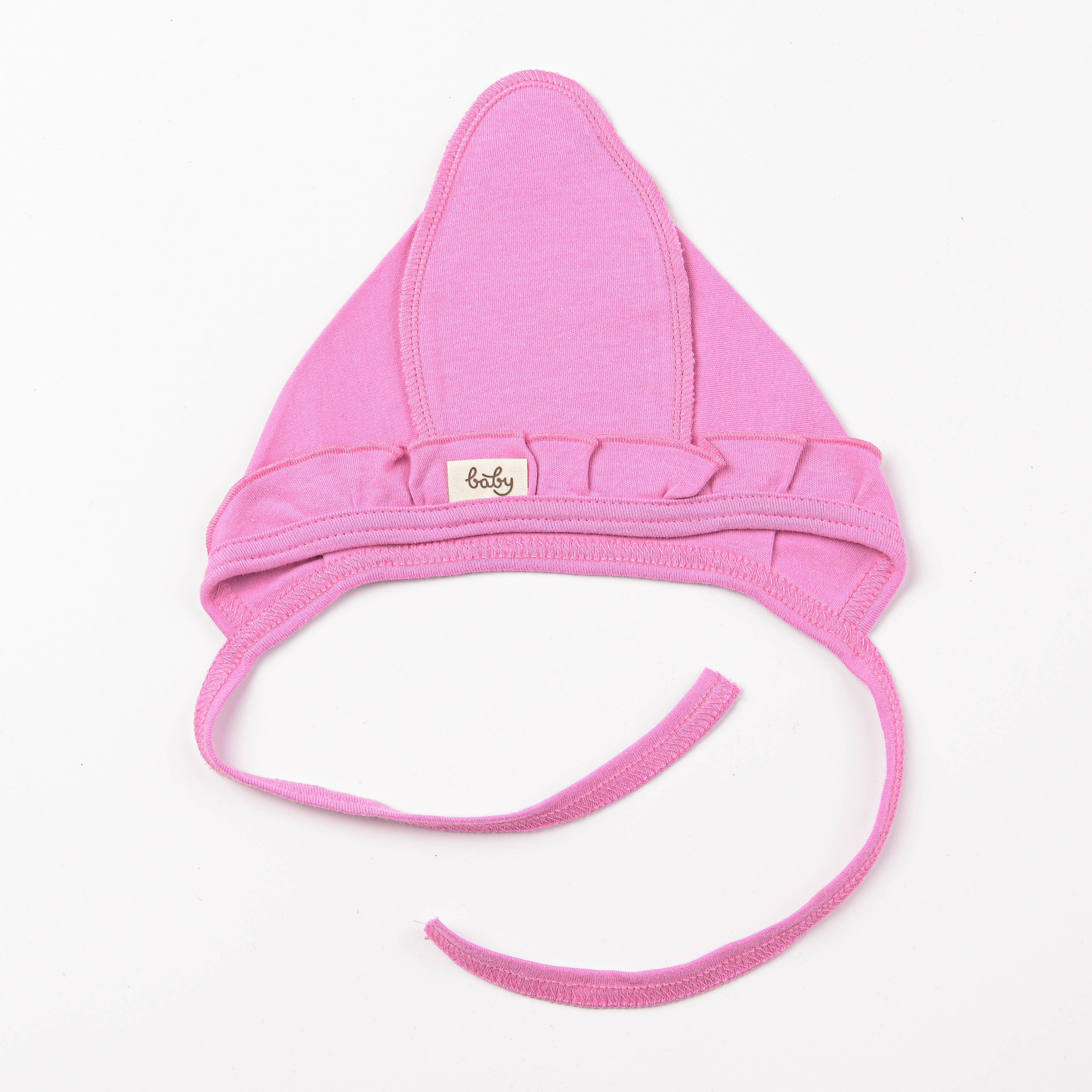 Ruffled baby hat 0+, Peony
