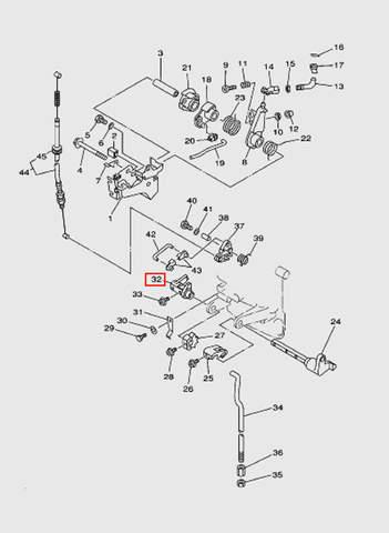 Рычаг вала п/п  для лодочного мотора T15, OTH 9,9 SEA-PRO (12-32)