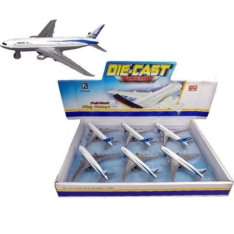 Самолеты металлические пассажирские 1кор*1бл*6шт