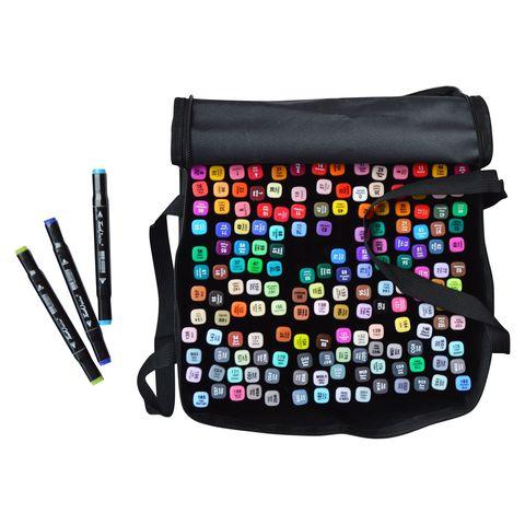 Набор двусторонних спиртовых маркеров TouchColor, 168 цветов (уценка)