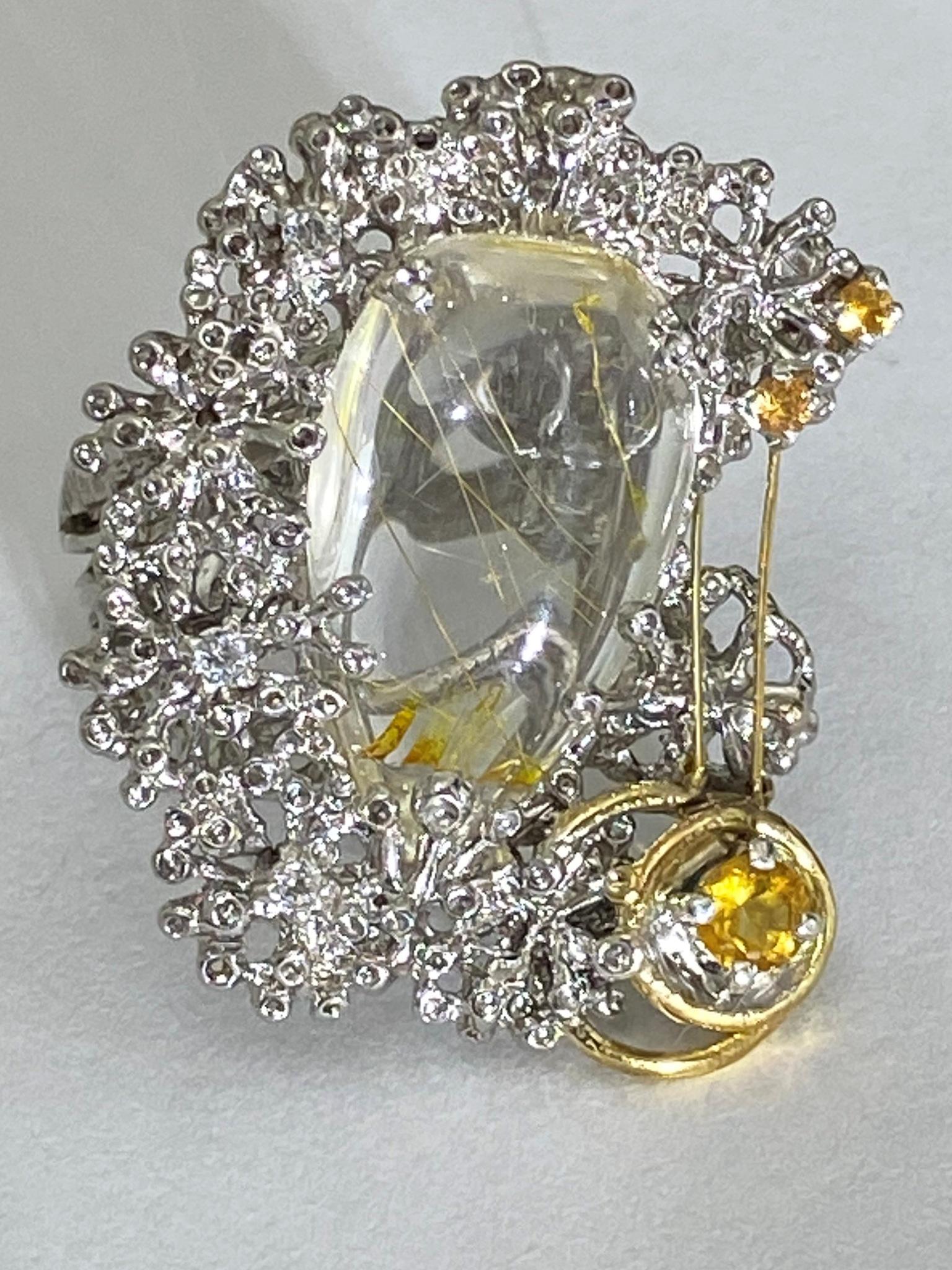 Волосатик (кольцо из серебра)