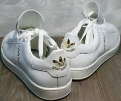 Модные белые кроссовки женские Stan Smith White-R A14w15wg