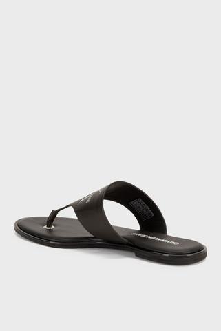 Сандалии FLAT SANDAL TOE SLIDE LTH Calvin Klein