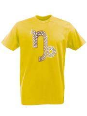 Футболка с принтом Знаки Зодиака, Козерог (Гороскоп, horoscope) желтая 004