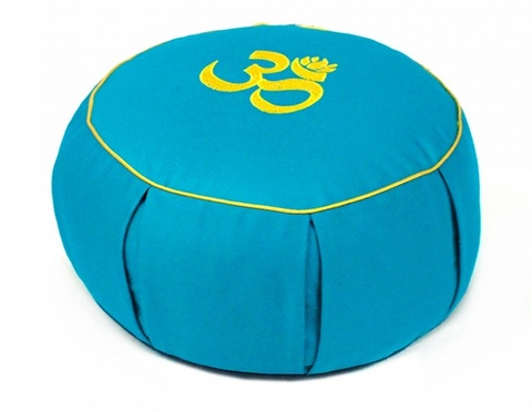Подушка Сурья круглая с каймой, 35х15 см