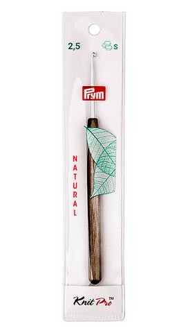 Крючок алюминиевый с деревянной ручкой 2,5 мм (арт 223501)