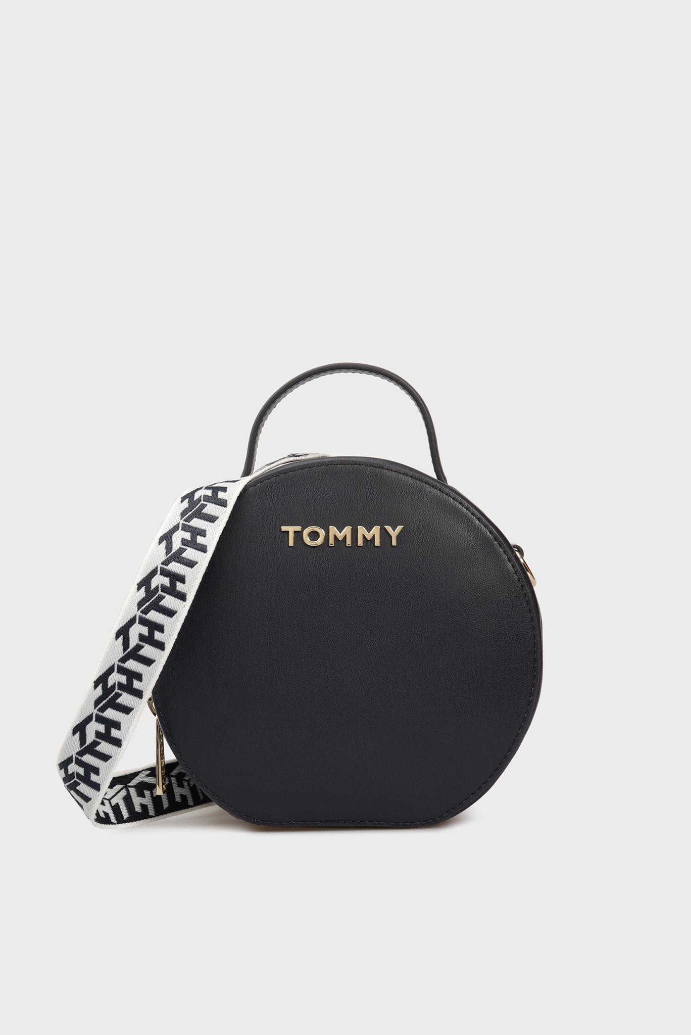 Женская темно-синяя сумка через плечо ICONIC Tommy Hilfiger