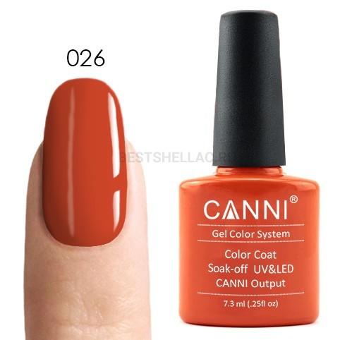 Canni Canni, Гель-лак № 026, 7,3 мл 026.jpg