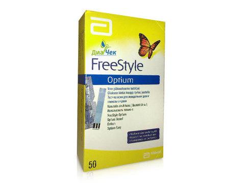 Тест-полоски Фристайл Оптиум глюкоза  (Optium Plus) № 50
