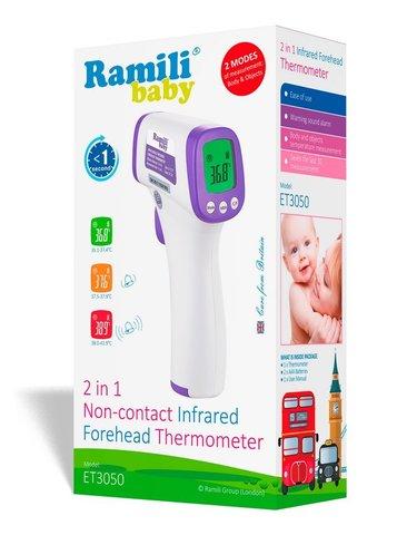 Бесконтактный термометр Ramili ET3050 (2 в 1)