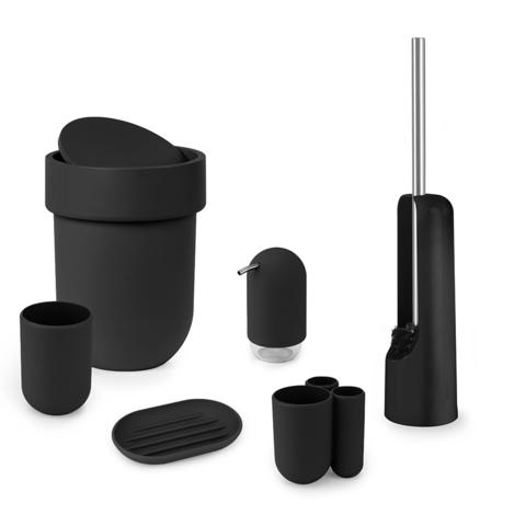Контейнер мусорный Touch с крышкой черный