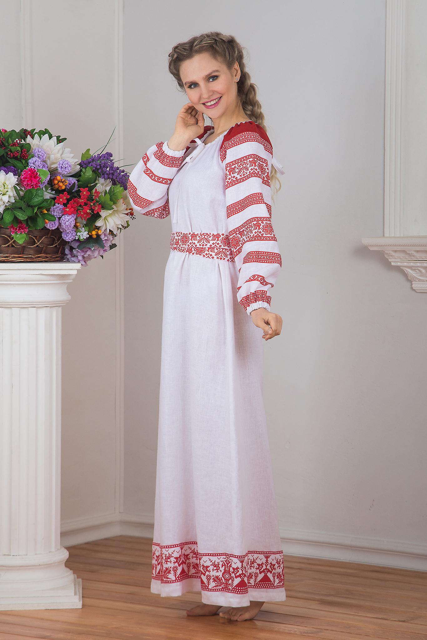 Платье Белая черемуха вид сбоку