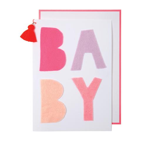 Открытка поздравительная, детская, розовая