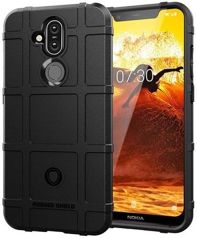 Чехол Nokia 8.1 (X7) цвет Black (черный), серия Armor, Caseport