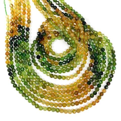 Бусины турмалин градиент А+ граненый 3,2 мм цена за 120 бусин (~39 см)