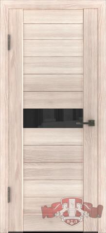 Дверь Л4ПГ1 стекло черное (капучино, остекленная экошпон), фабрика Владимирская фабрика дверей